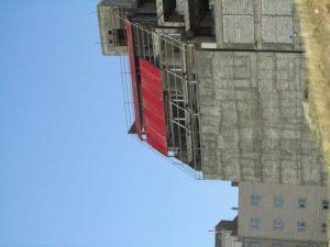 عقب روی ساختمان مسکونی با پوشش ساندویچ پانل